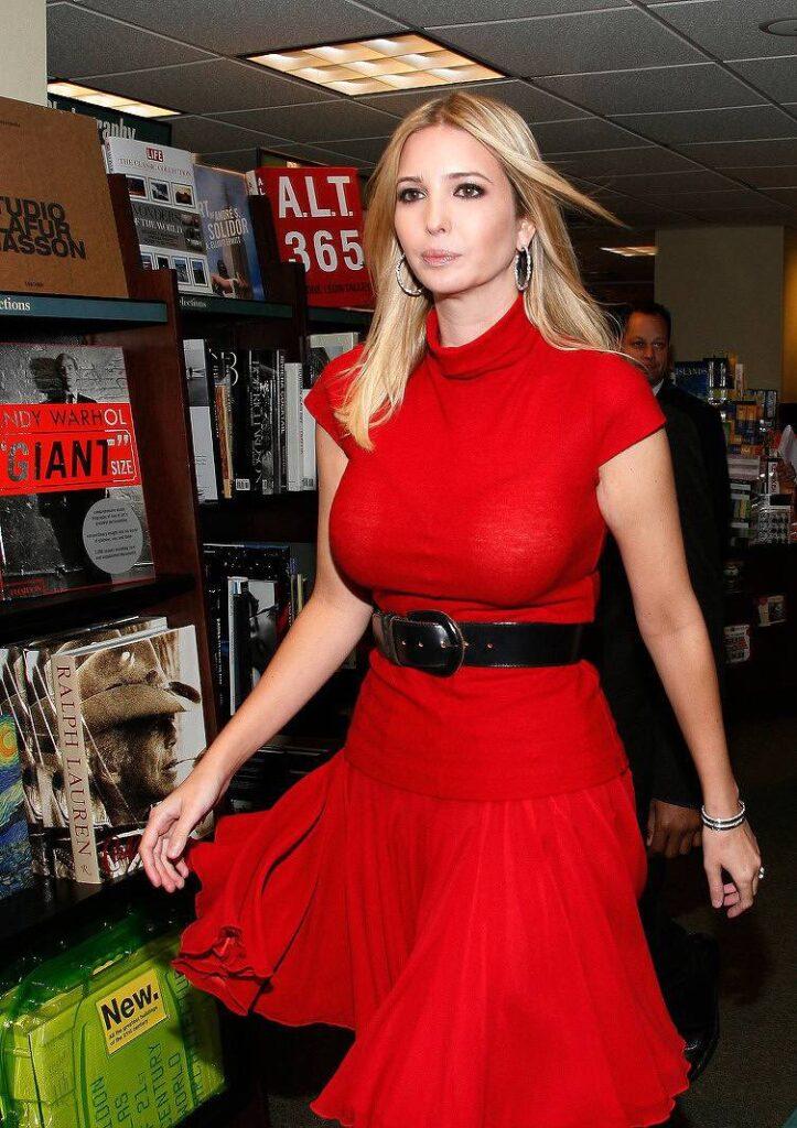 ivanka trump hot red dress